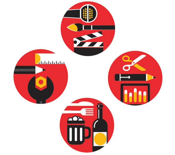 Business type icons for Aon