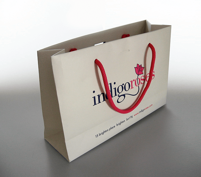 One of the range of bags we designed for IndigoRoses