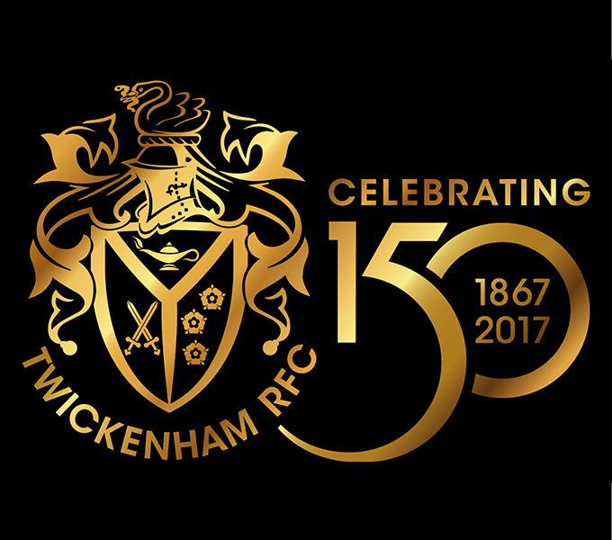 TRFC 150th Anniversary gold logo