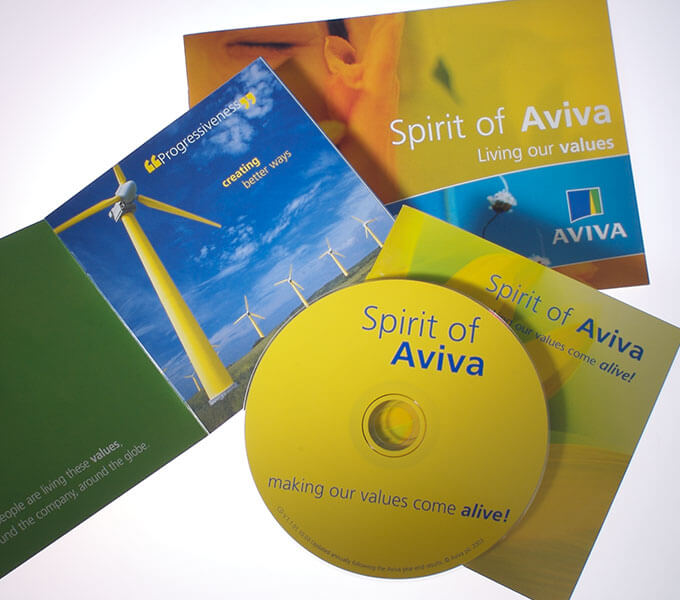 Aviva Induction pack, CD and Values booklet