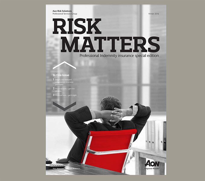 Aon Risk Matters cover design