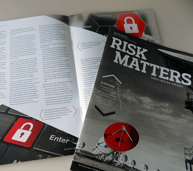 Printed edition of Aon Risk Matters