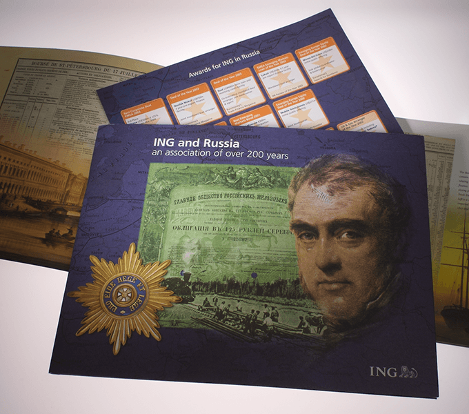 Cover and insert for 20 page ING and Russia booklet