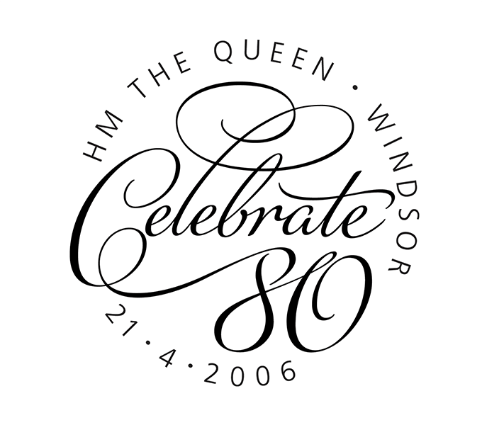 Queen's 80th Birthday cancellation mark