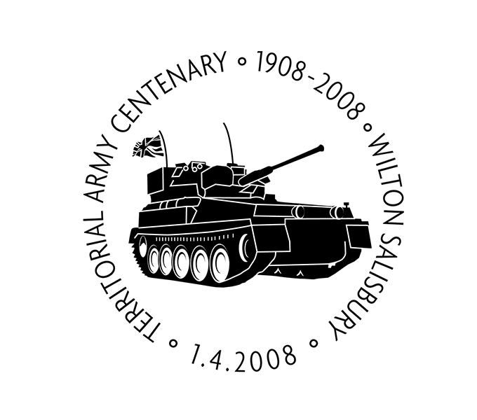 100th Anniversary of the Territorial Army cancellation mark
