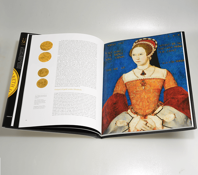 Spread from A History of the Sovereign: chief coin of the world