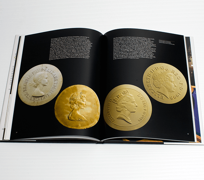 Spread from Designing Change: the art of coin design