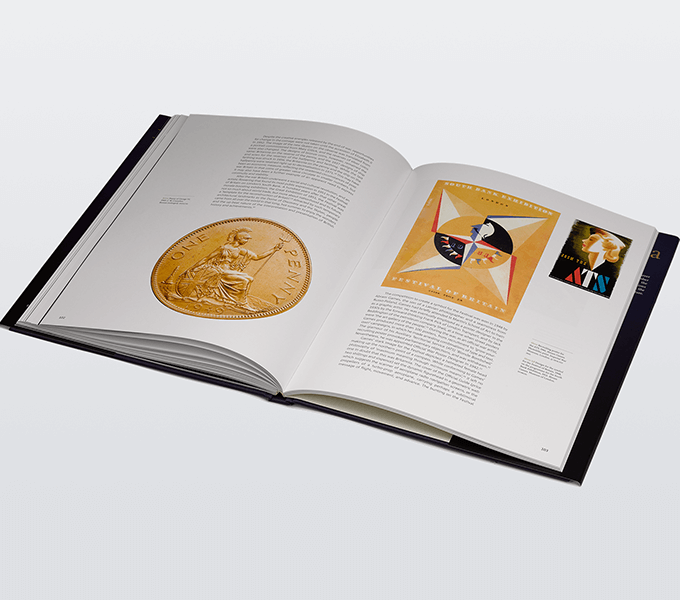 Britannia: Icon on the Coin, Royal Mint Museum illustrated book spread