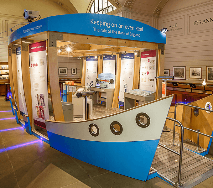Keeping on an Even Keel, semi permanent exhibition on the role of the Bank