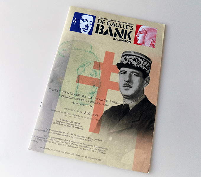 De Gaulle's Bank Exhibition booklet cover