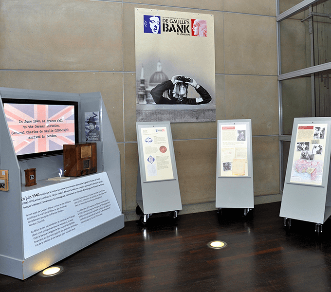 De Gaulle's Bank temporary exhibition at AFD's HQ in Paris