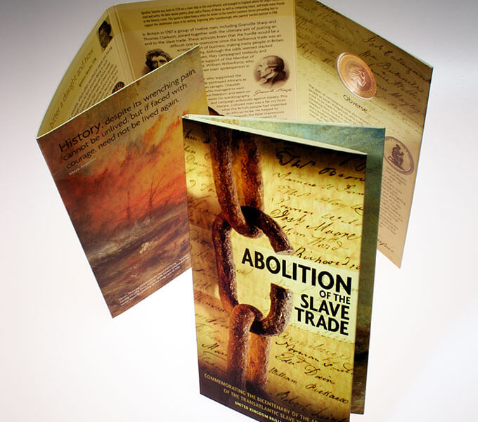 Royal Mint packaging: Abolition of slave trade £2 packaging
