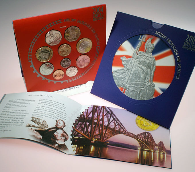 Royal Mint packaging: 2004 proof coin set and booklet