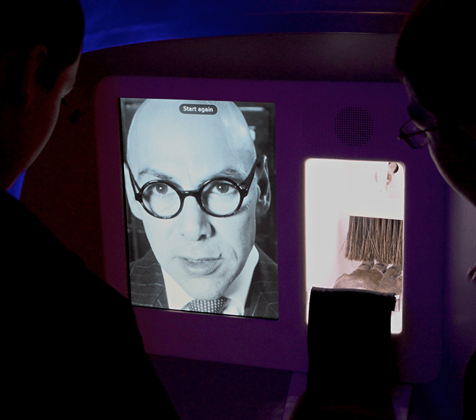 The 'Phantom limb' interactive at the Who am I? gallery at the Science Museum, London