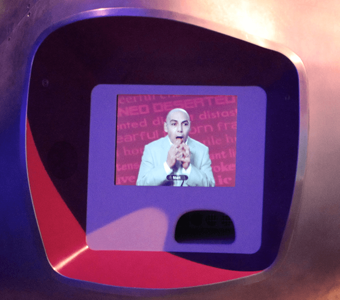 The 'Emototron' interactive at the Who am I? gallery at the Science Museum, London