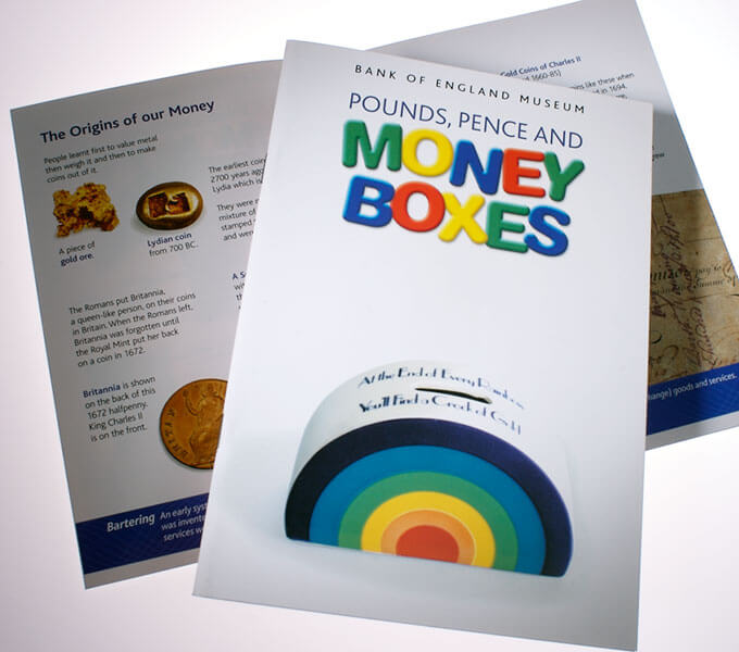 Pounds, pence and money boxes
