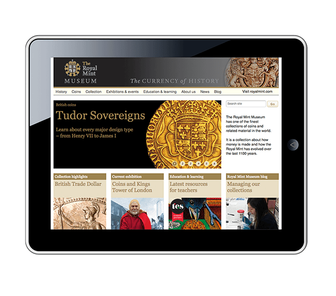 Royal Mint Museum website home page