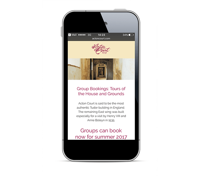 Acton Court responsive email campaign