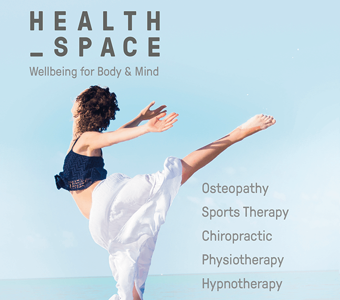 Advertisement and imagery for HealthSpace